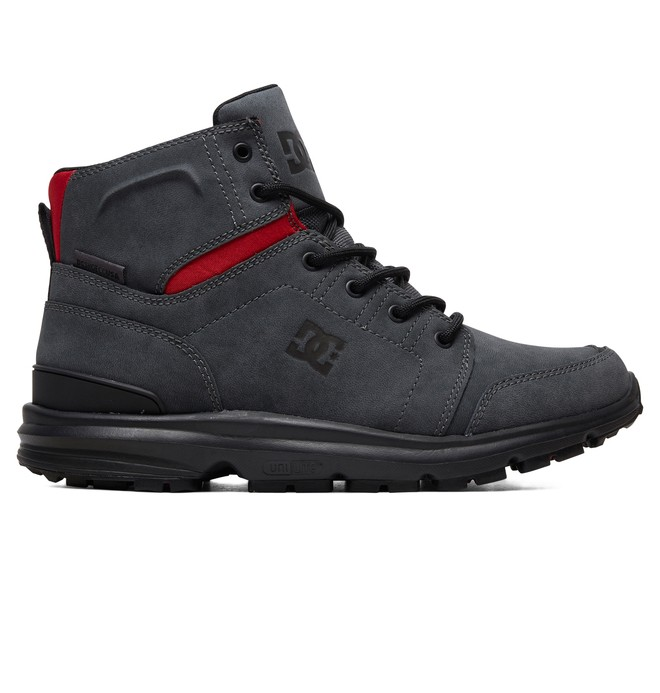 0 Torstein Leather Winter Boots Grey ADYB700026 DC Shoes