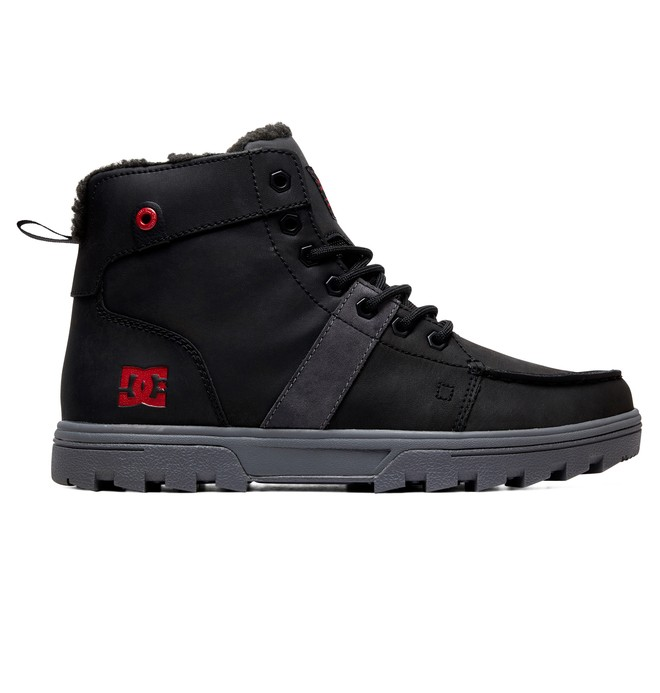 0 Woodland Sherpa-Lined Winter Boots Black ADYB700027 DC Shoes