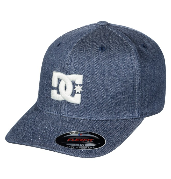 0 Capstar TX Flexfit Hat Blue ADYHA03561 DC Shoes