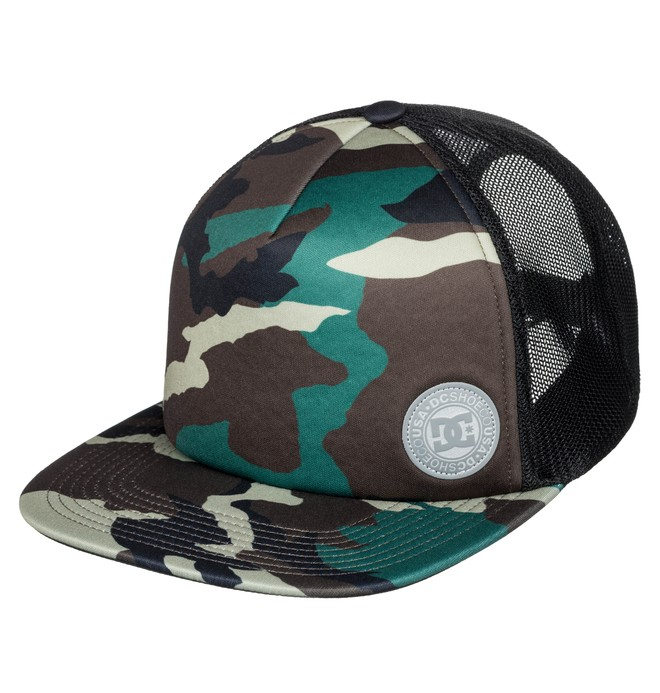 0 Balderson Trucker Hat Green ADYHA03628 DC Shoes