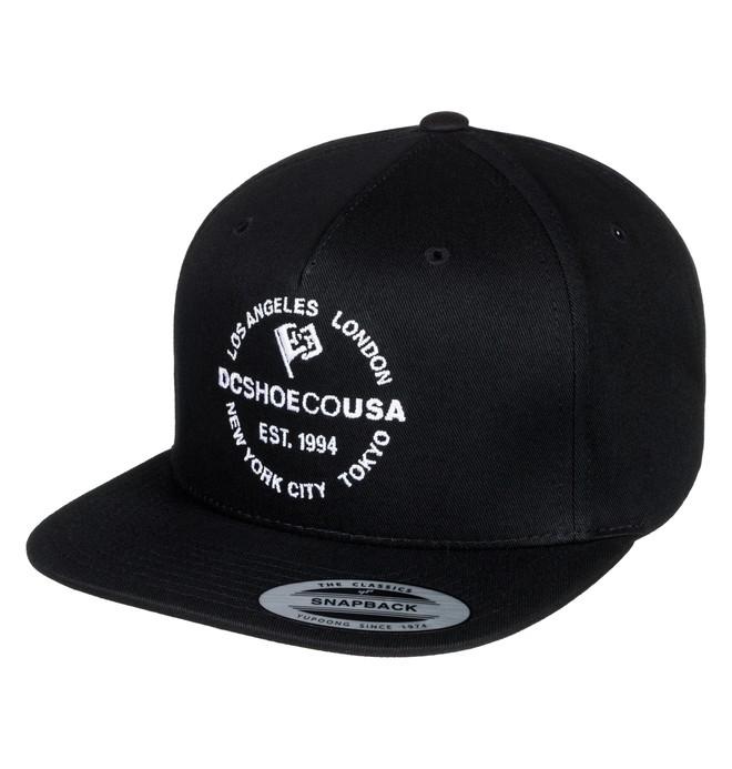 0 Starlighter Snapback Hat Black ADYHA03632 DC Shoes