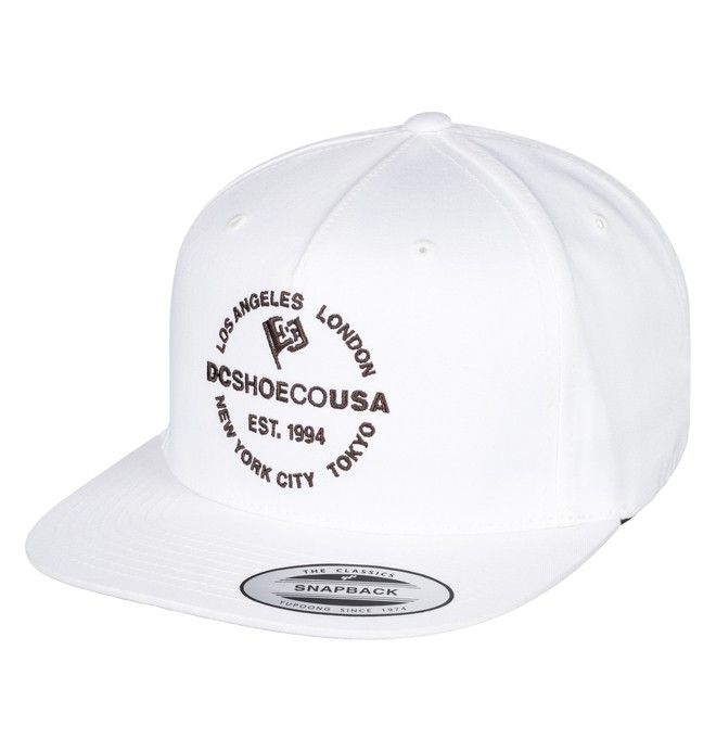 0 Starlighter Snapback Hat White ADYHA03632 DC Shoes