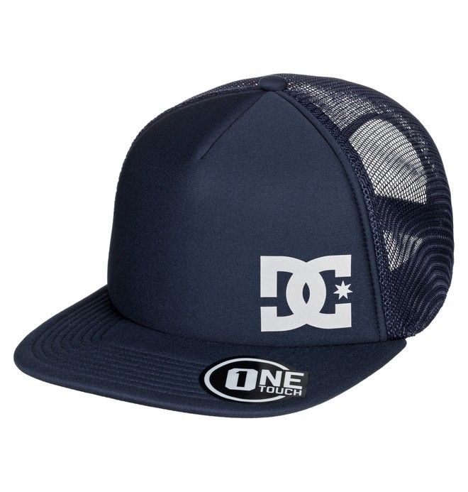 0 Greeters Trucker Hat Blue ADYHA03638 DC Shoes