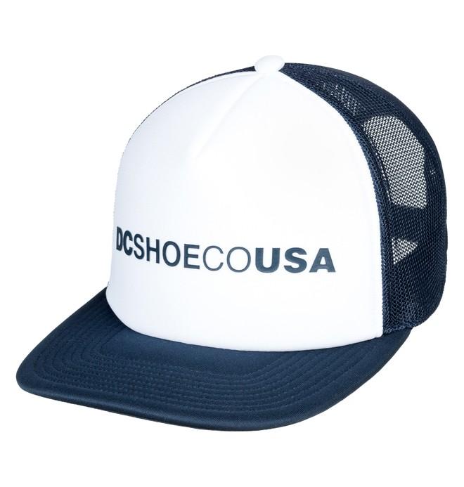 0 Lieberson Trucker Hat White ADYHA03720 DC Shoes