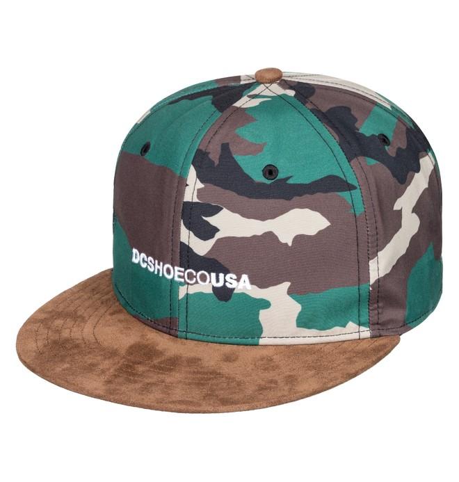 0 Flop Dropper Snapback Hat Green ADYHA03726 DC Shoes