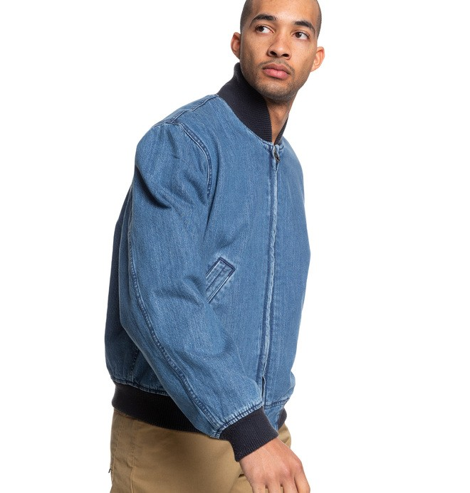 Tfunk - Oversized Denim Bomber Jacket  ADYJK03057
