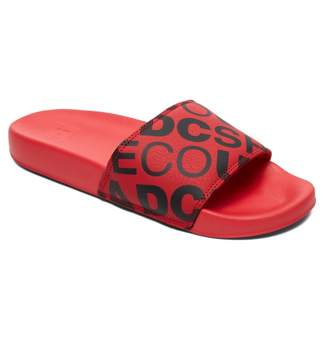 DC SE - Leather Slides Sandals for Men  ADYL100044