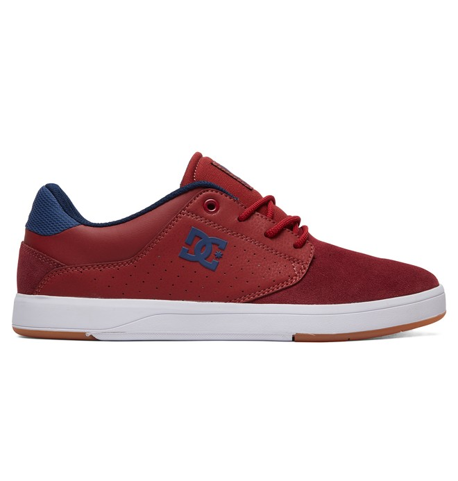 0 Plaza - Leather Shoes for Men Red ADYS100401 DC Shoes