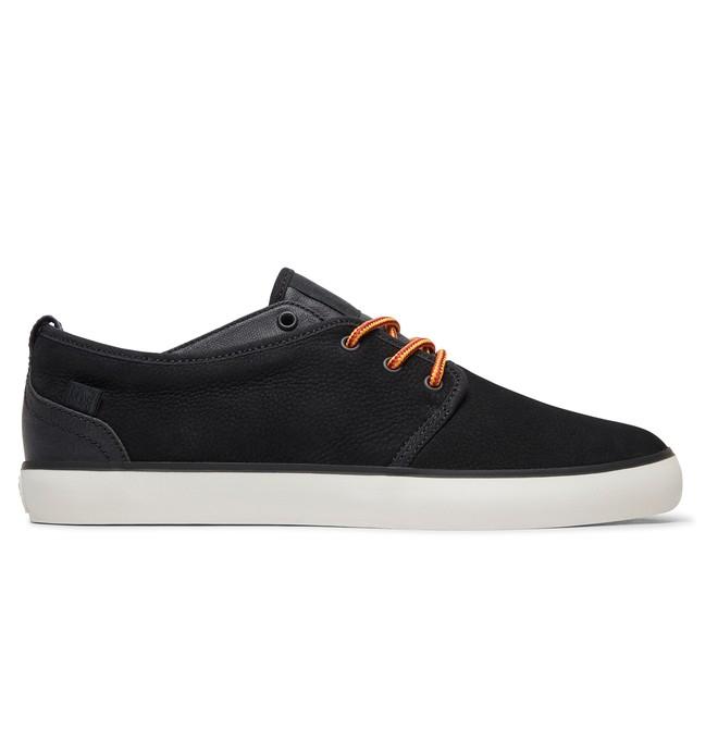0 Studio 2 LE - Leather Shoes for Men Black ADYS300414 DC Shoes
