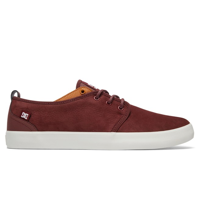 0 Studio 2 LE - Leather Shoes for Men Red ADYS300414 DC Shoes