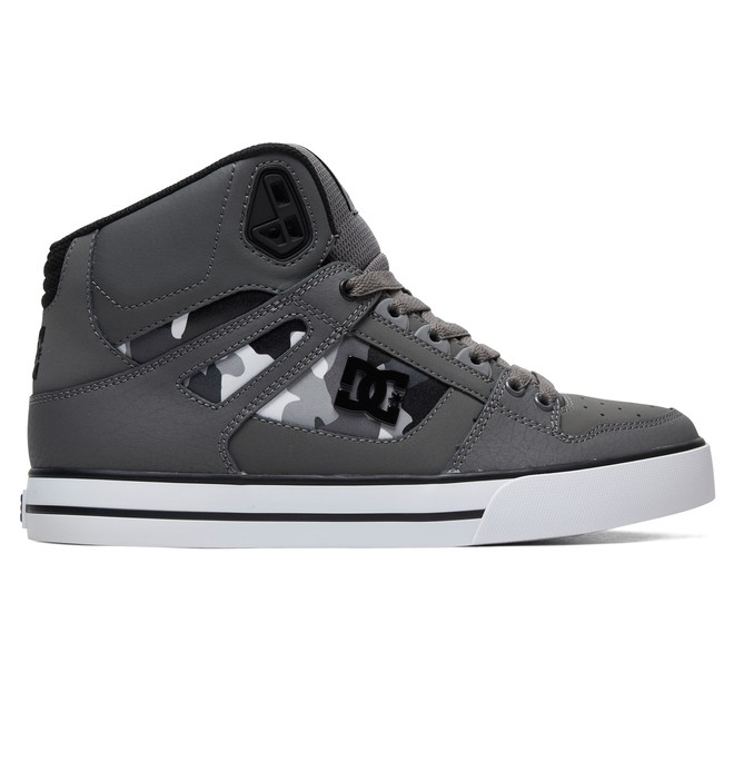 0 Pure High-Top Shoes Grey ADYS400050 DC Shoes
