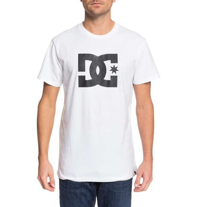 0 DC Star Tee White ADYZT03119 DC Shoes