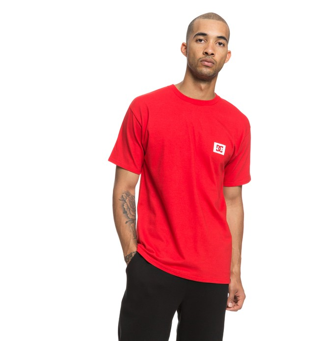 0 Stage Box Tee Red ADYZT04245 DC Shoes