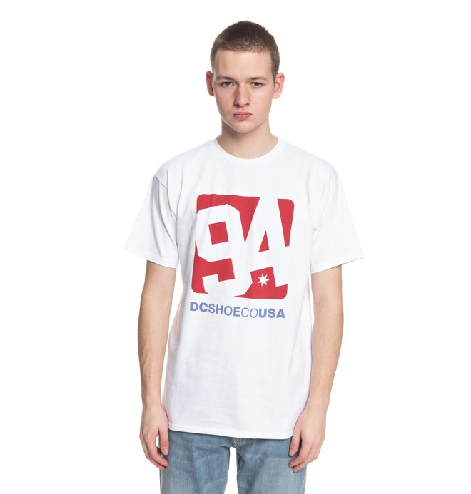 0 Arched Tee White ADYZT04306 DC Shoes