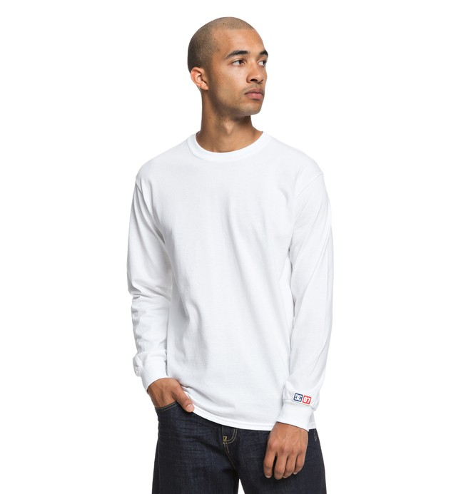 0 Shield Long Sleeve Tee White ADYZT04357 DC Shoes