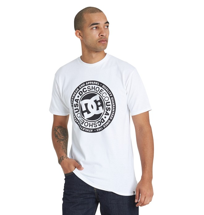 0 Circle Star Tee White ADYZT04368 DC Shoes
