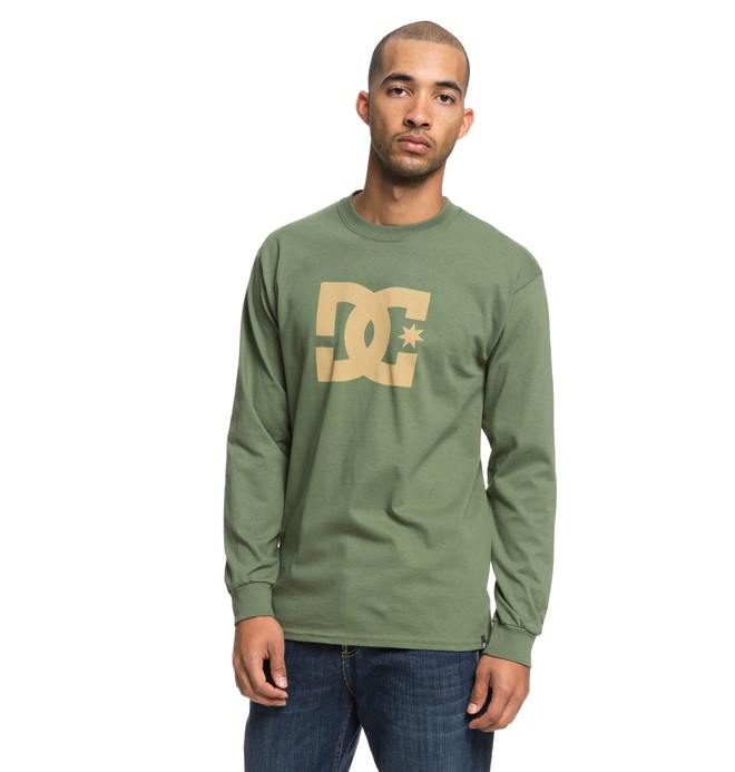 0 Star Long Sleeve Tee Green ADYZT04376 DC Shoes