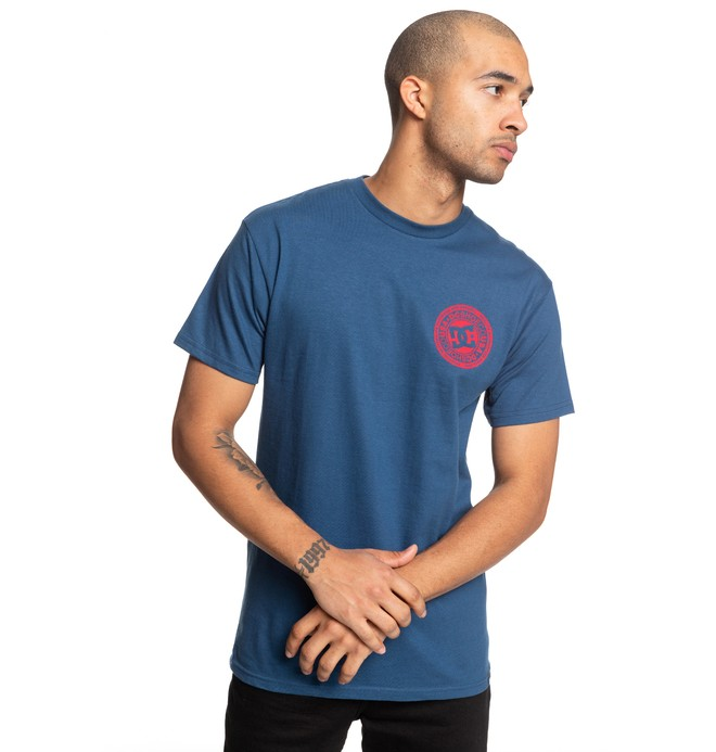 0 Circle Star Tee Blue ADYZT04377 DC Shoes