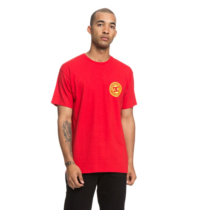 0 Circle Star Tee Red ADYZT04377 DC Shoes