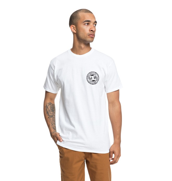 0 Circle Star Tee White ADYZT04377 DC Shoes
