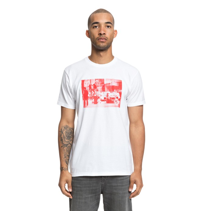 0 Shadon Tee White ADYZT04389 DC Shoes