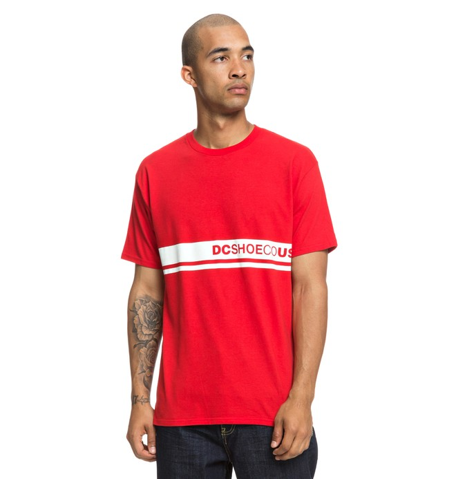 0 Bloklyn Tee Red ADYZT04442 DC Shoes