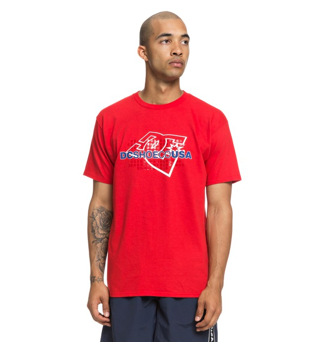0 Pillery Tee Red ADYZT04453 DC Shoes