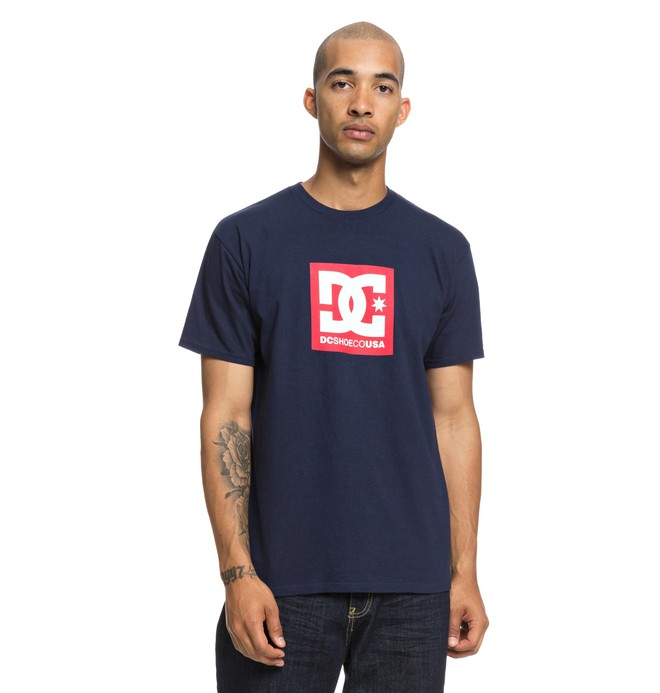 0 Square Star Tee Blue ADYZT04464 DC Shoes