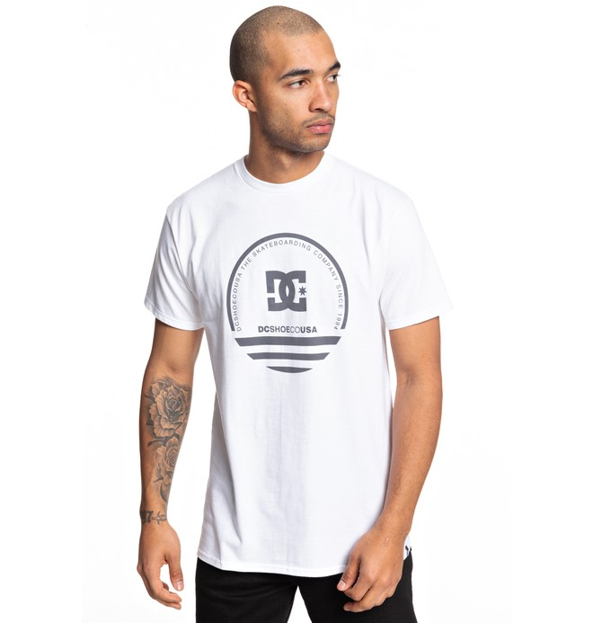 0 Fatal Sting Tee White ADYZT04507 DC Shoes
