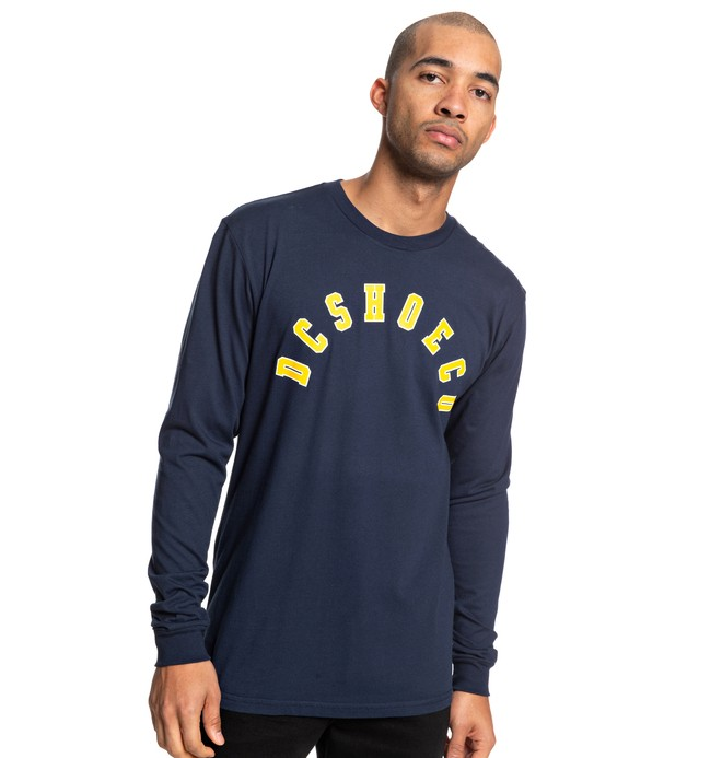 0 Deecee Long Sleeve Tee Blue ADYZT04511 DC Shoes