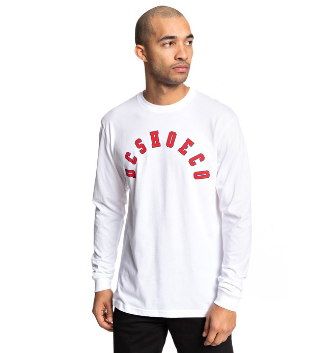 0 Deecee Long Sleeve Tee White ADYZT04511 DC Shoes