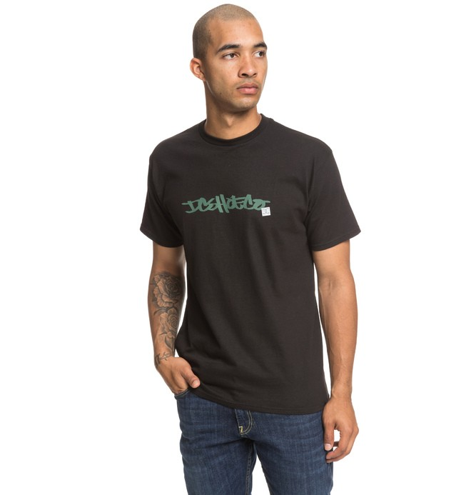 0 Waxed Tee Black ADYZT04522 DC Shoes
