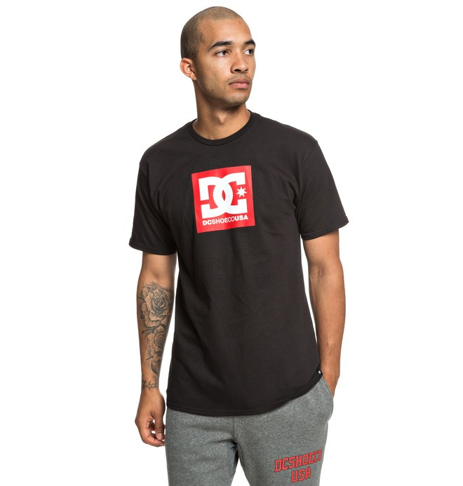 0 Square Star Tee Black ADYZT04533 DC Shoes