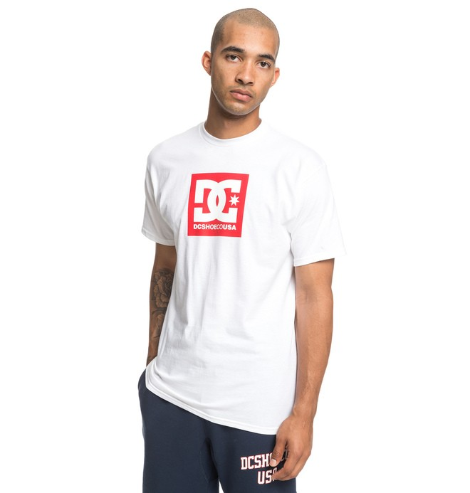 0 Square Star Tee White ADYZT04533 DC Shoes