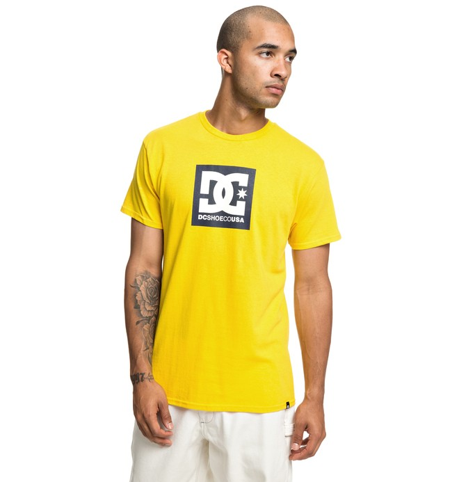 0 Square Star Tee Yellow ADYZT04533 DC Shoes