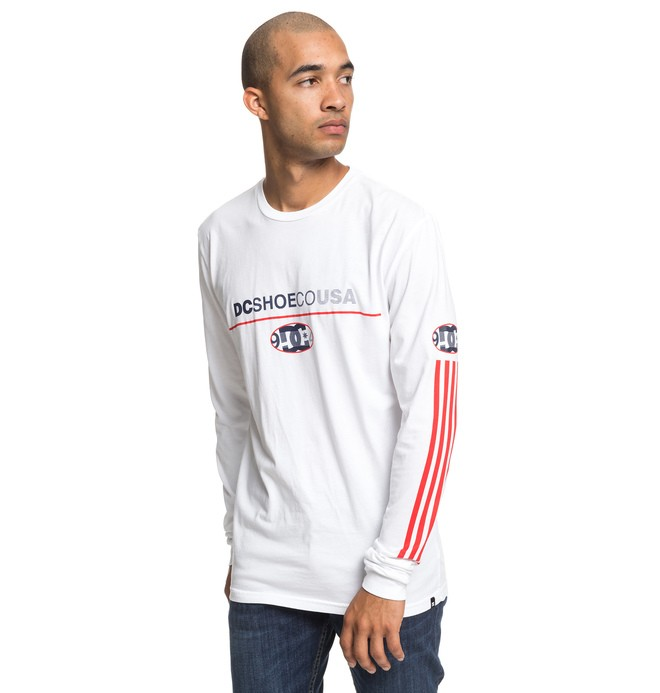 0 Paktrak Long Sleeve Tee White ADYZT04540 DC Shoes