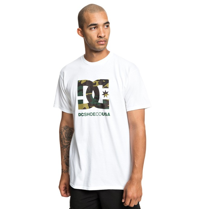 0 Camo Fill Tee White ADYZT04541 DC Shoes