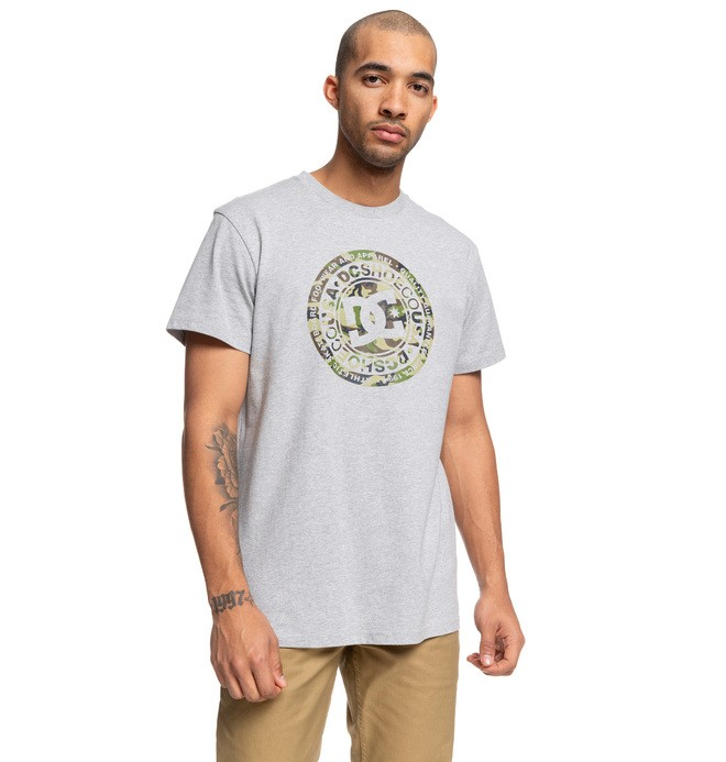 0 Circle Star Tee Grey ADYZT04596 DC Shoes