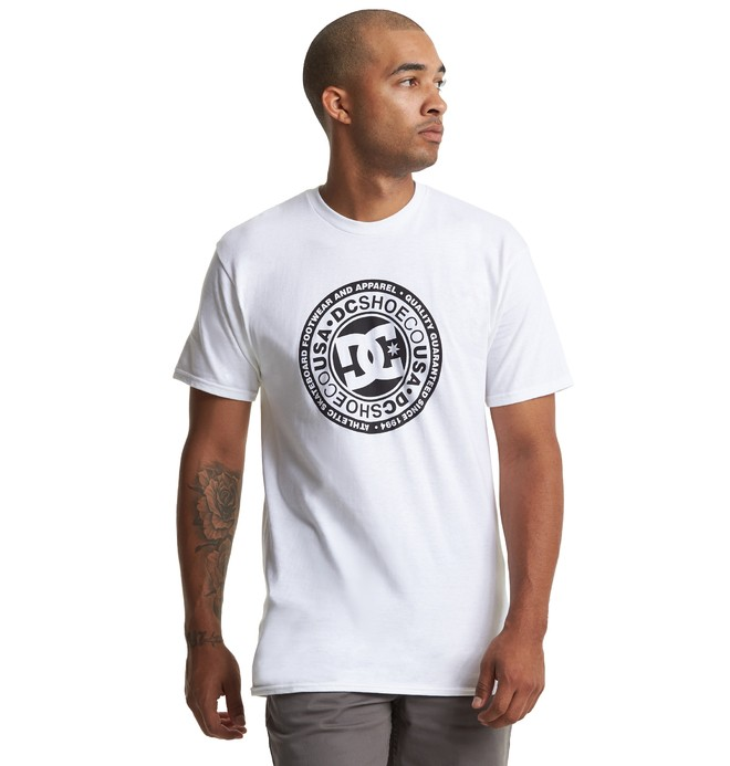 0 Circle Star Tee White ADYZT04596 DC Shoes