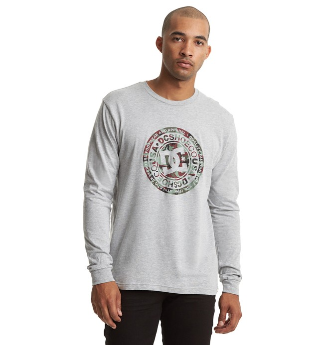 0 Circle Star Long Sleeve Tee Grey ADYZT04597 DC Shoes