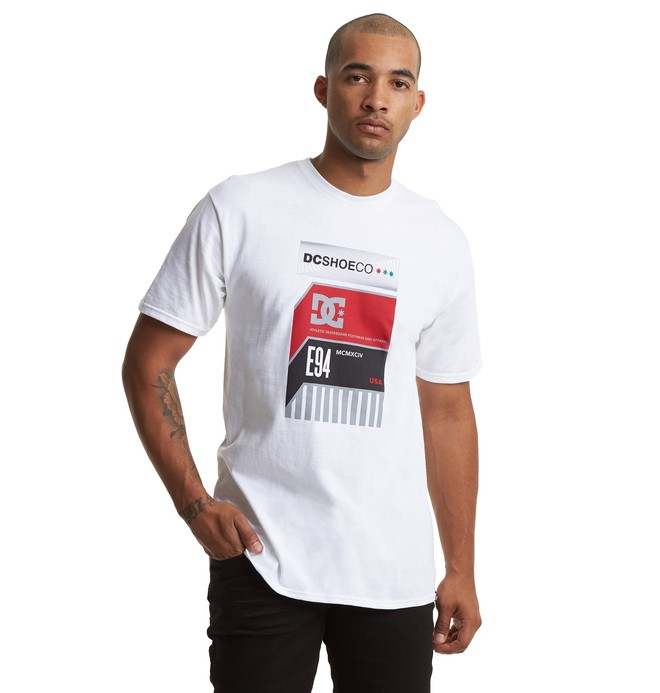 0 Home Video Tee White ADYZT04602 DC Shoes