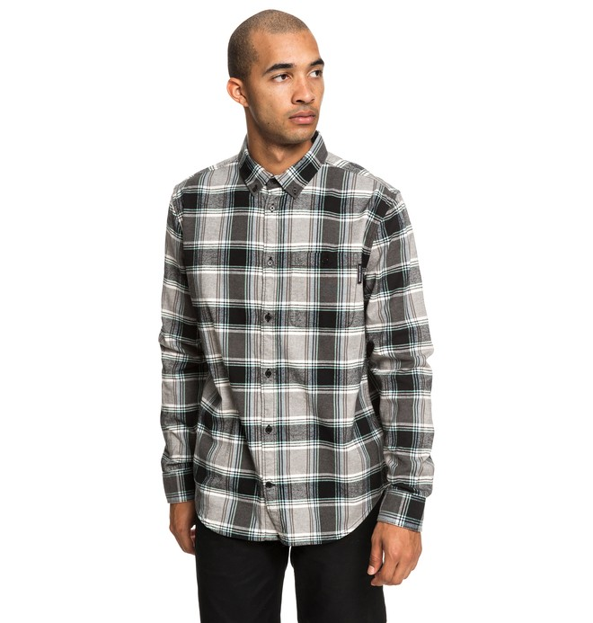 0 Camisa Manga Longa Xadrez Northboat DC Shoes Preto BR62291183 DC Shoes