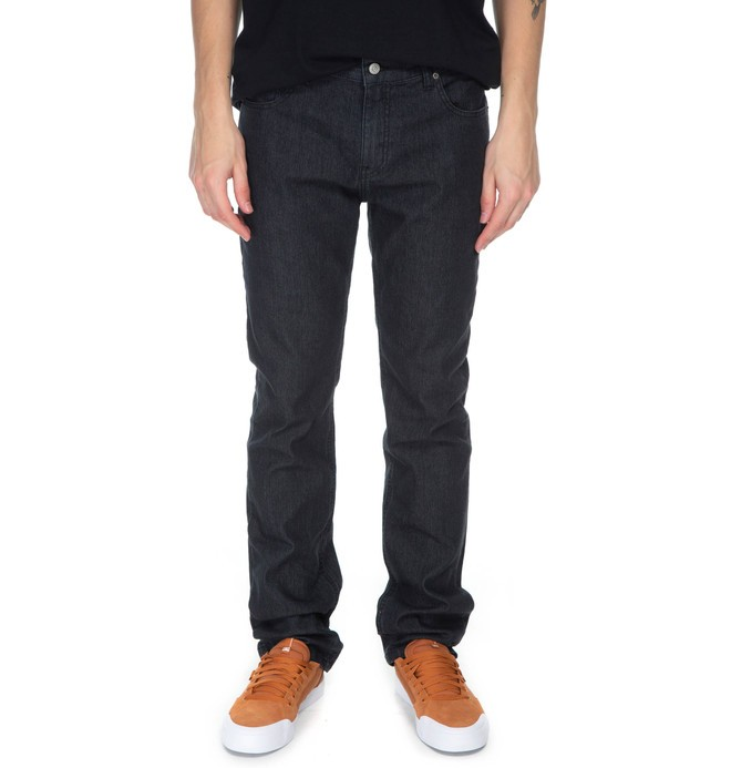 0 DC CALCA JEANS STRAIGHT BLACK Preto BR63331586 DC Shoes