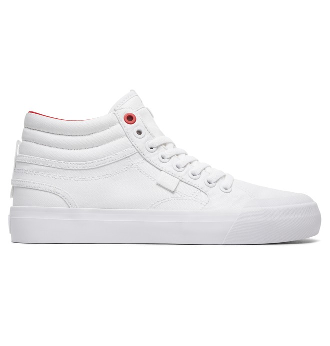 0 Tenis Cano Alto Feminino DC Shoes Evan Hi TX SE Branco BRADJS300164 DC Shoes