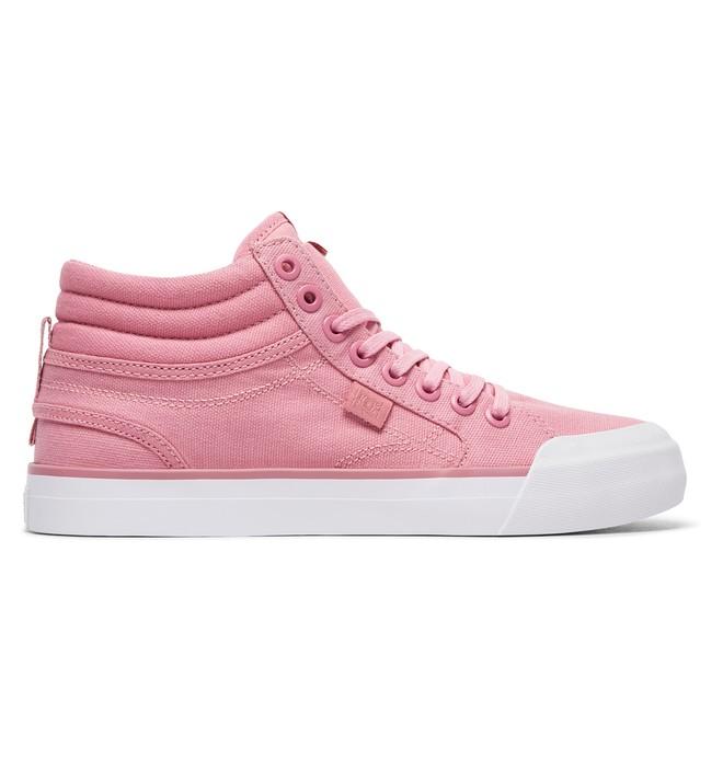 0 Tenis Cano Alto Feminino DC Shoes Evan Hi TX Pink BRADJS300178 DC Shoes