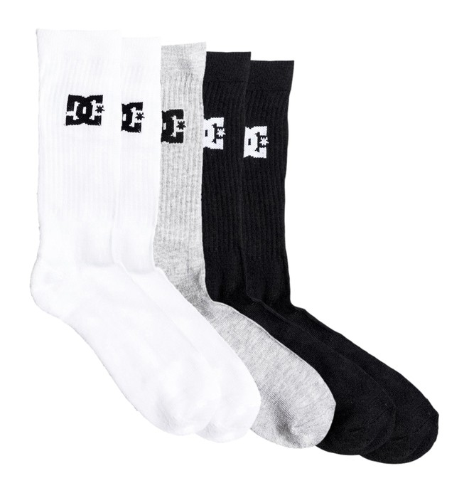 0 DC 3 Pack - Crew Socken Schwarz EDBAA03001 DC Shoes