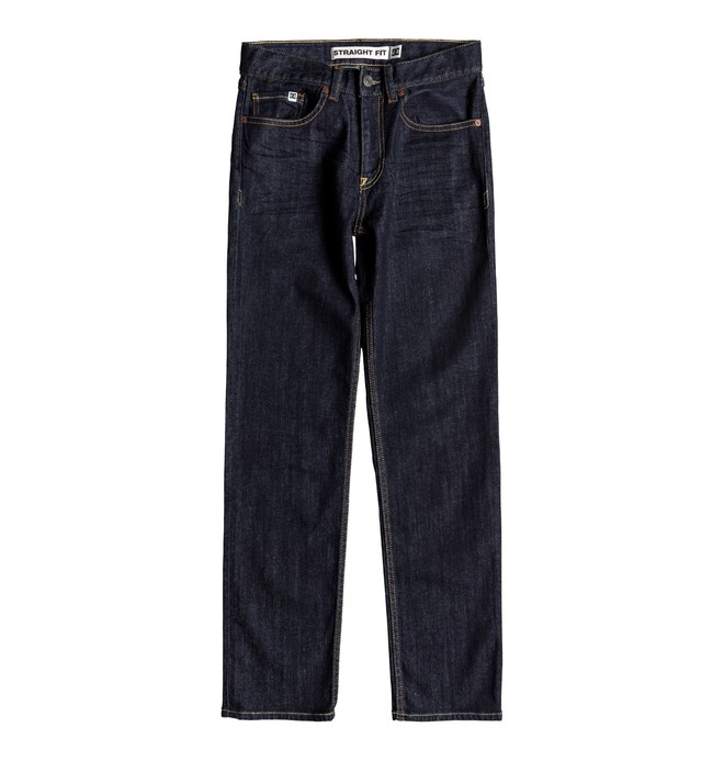 0 Worker Indigo Rinse - Straight Fit Jeans for Boys 8-16 Blue EDBDP03050 DC Shoes
