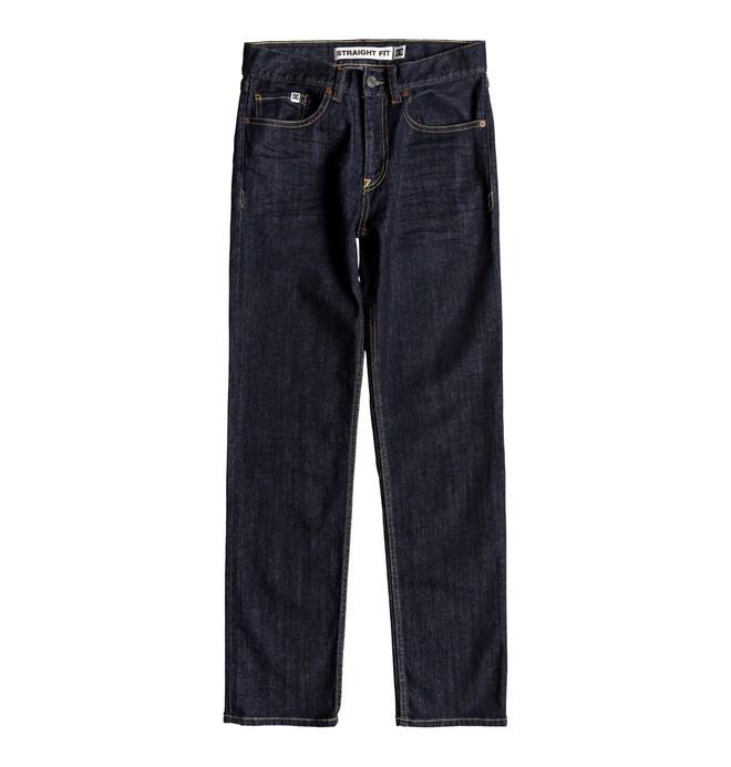 0 Boy's 8-16 Worker Indigo Rinse Straight Fit Jeans Blue EDBDP03050 DC Shoes