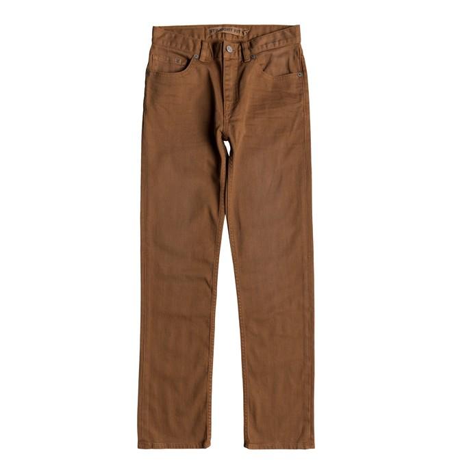 0 Sumner - Straight Fit Jeans for Boys 8-16 Orange EDBDP03051 DC Shoes
