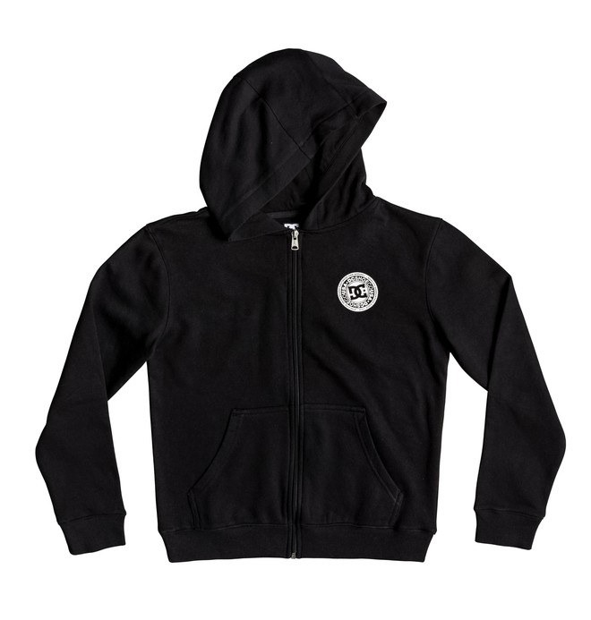 0 Boy's 8-16 Rebel Zip-Up Hoodie Black EDBFT03155 DC Shoes